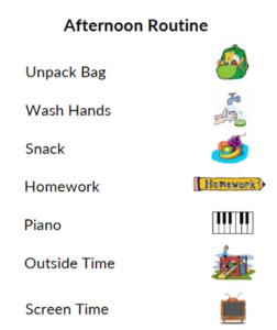 Afternoon Routine for Children