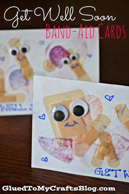 brighten a doctor's day - band aid cards