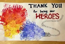 brighten an emergency responders day - thank you card for firefighter