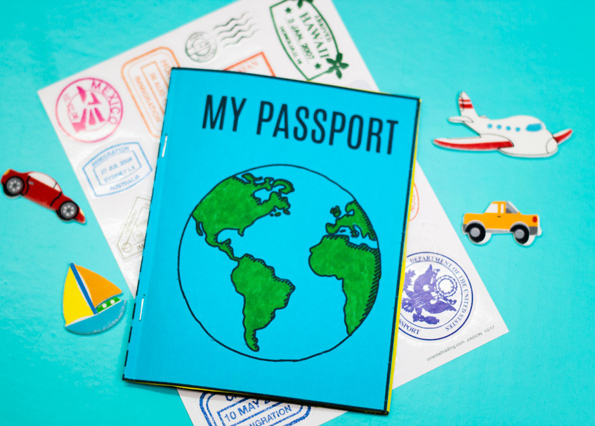 DIY Passport for Virtual World Trip for Homeschoolers