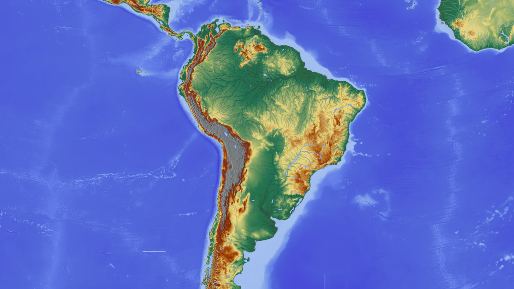 virtual trip to South America for homeschoolers - map of South America