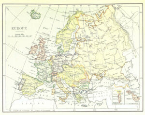 virtual trip to Europe for homeschoolers - European map