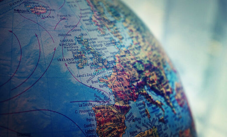 virtual trip around the world for homeschoolers - globe picture