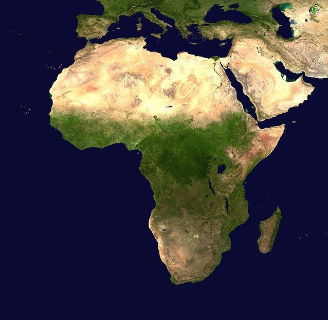 virtual trip to africa for homeschoolers - map of Africa image